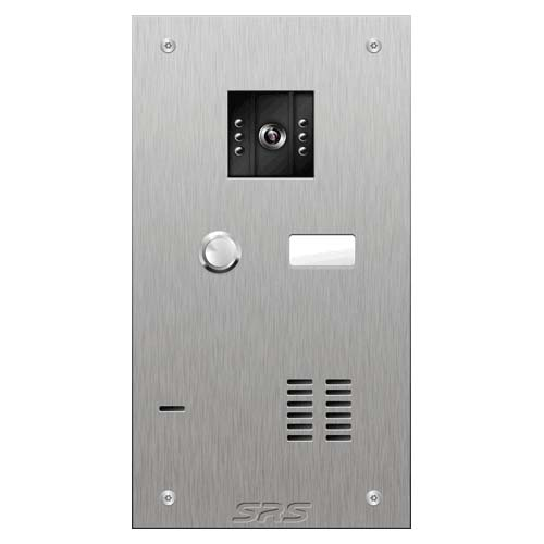 SRS 1 button s. steel VR video entry panel Size A
