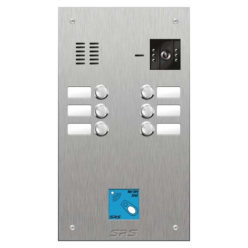 SRS 6 button s. steel VR video entry panel + prox. Size D