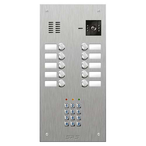 SRS 10 button s. steel VR video entry panel + keypad Size D2