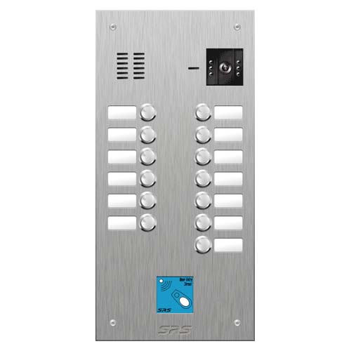 SRS 13 button s. steel VR video entry panel + prox. Size D2