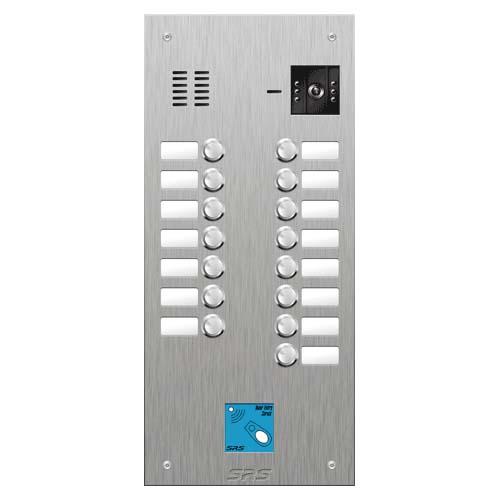 SRS 15 button s. steel VR video entry panel + prox. Size D3