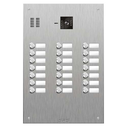 SRS 21 button s. steel VR video entry panel Size D4