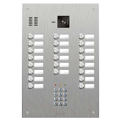SRS 22 button s. steel VR video entry panel + keypad Size D4