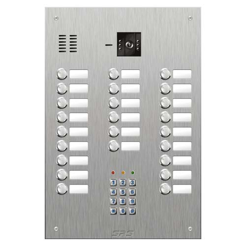 SRS 24 button s. steel VR video entry panel + keypad Size D4