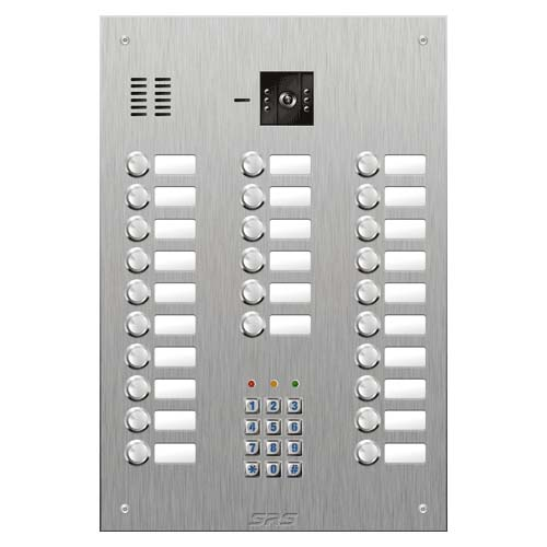 SRS 26 button s. steel VR video entry panel + keypad Size D4