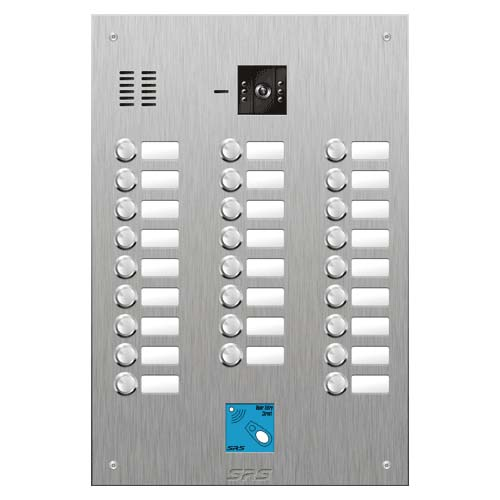 SRS 26 button s. steel VR video entry panel + prox. Size D4