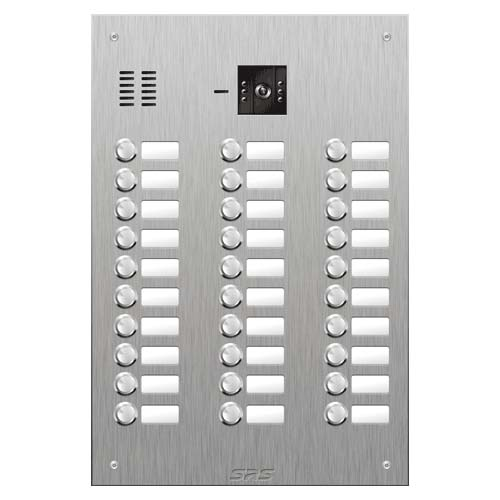 SRS 30 button s. steel VR video entry panel Size D4