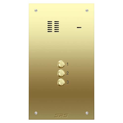 03 way VR audio brass panel, size D