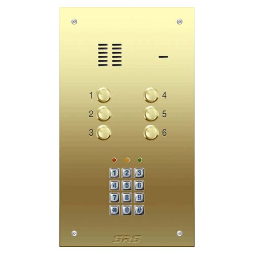 06 way VR audio brass panel, keypad size D