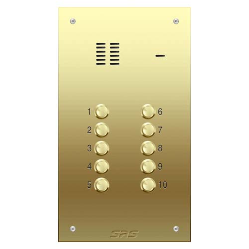 10 way VR audio brass panel, size D
