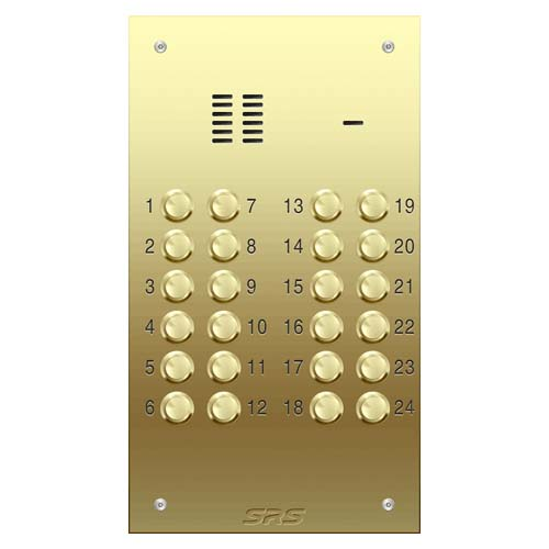 24 way VR audio brass panel, size D
