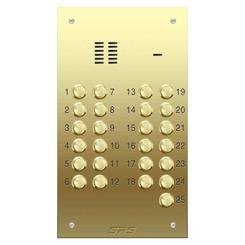 25 way VR audio brass panel, size D