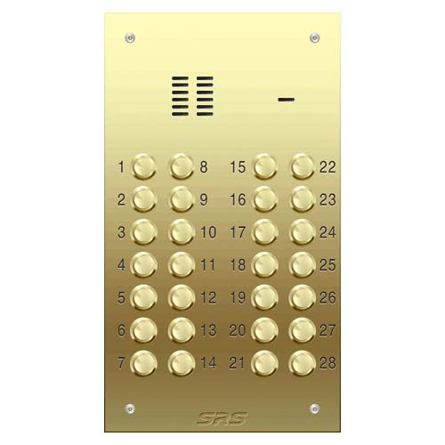 28 way VR audio brass panel, size D