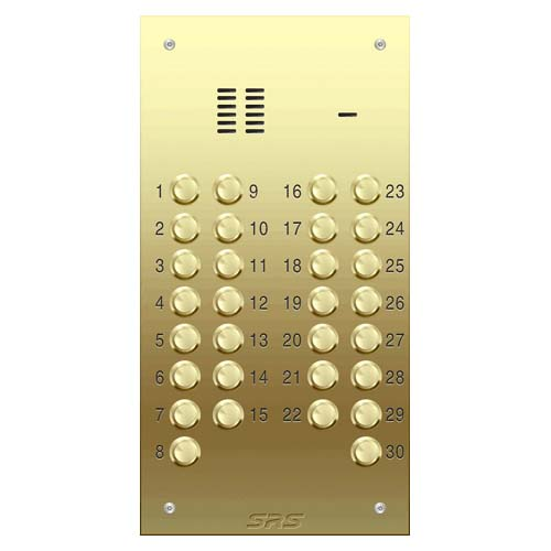 30 way VR audio brass panel, size D1