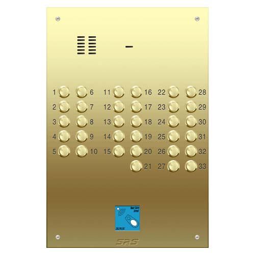 33 way VR audio brass panel, PROX size D4