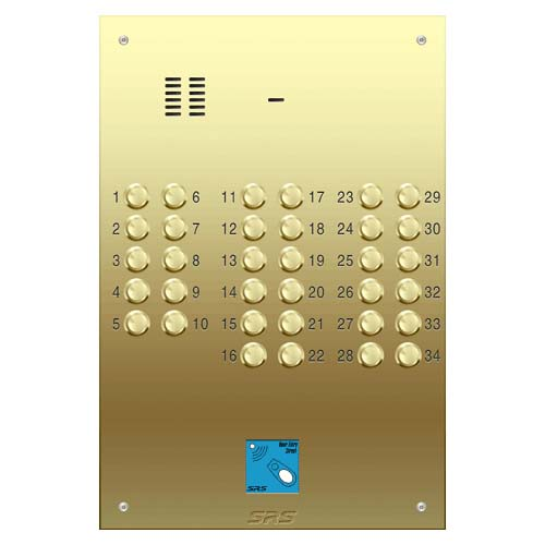 34 way VR audio brass panel, PROX size D4
