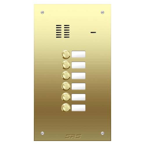 06 way VR audio brass panel, name window size D