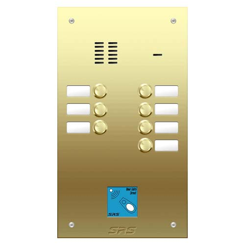 07 way VR audio brass panel, name wind. prox. size D