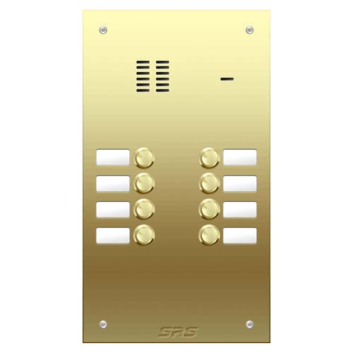 08 way VR audio brass panel, name window size D