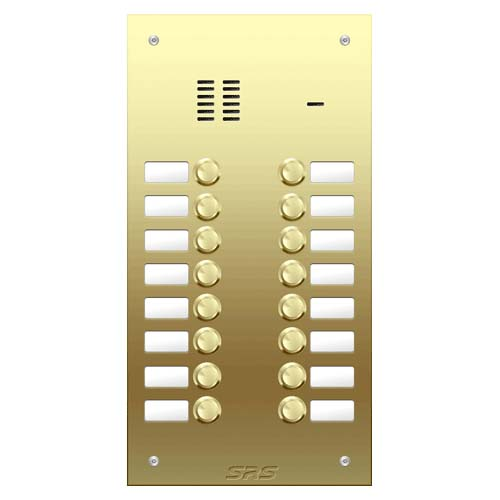 16 way VR audio brass panel, name window size D1