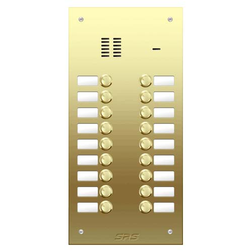 18 way VR audio brass panel, name window size D2