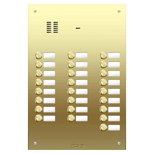 25 way VR audio brass panel, name window size D4