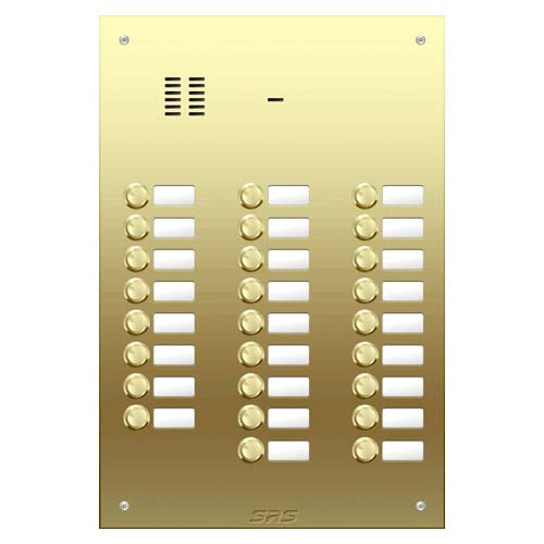 26 way VR audio brass panel, name window size D4