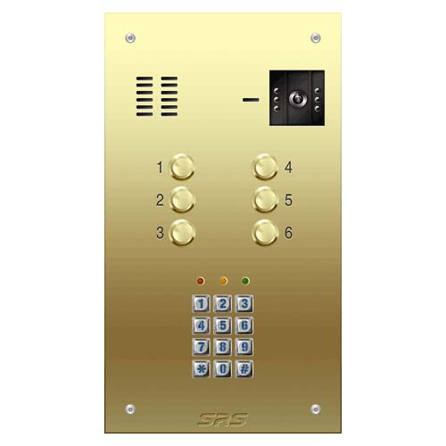 06 way VR brass video panel, keypad size D