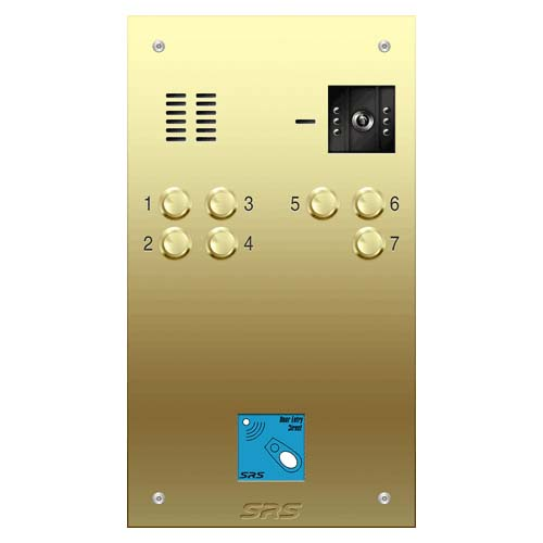 07 way VR brass video panel, prox. size D