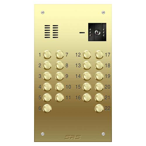 22 way VR brass video panel, size D
