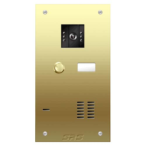 01 button Brass video panel, name win. size A
