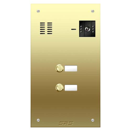 02 button Brass video panel, name win. size D
