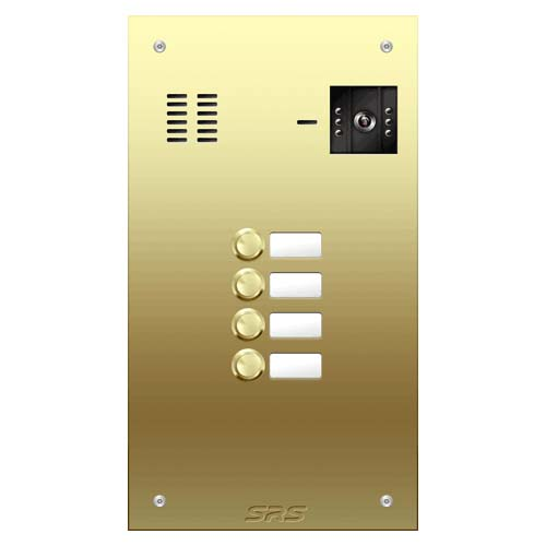 04 button Brass video panel, name win. size D