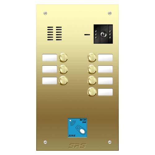 07 button Brass video panel, prox., name win. size D