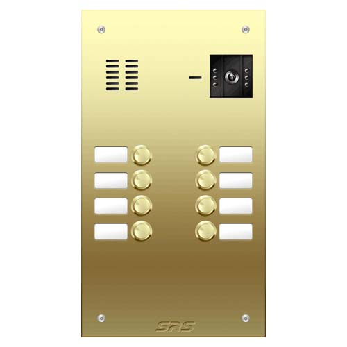 08 button Brass video panel, name win. size D