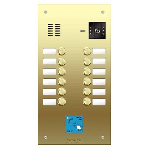 12 button Brass video panel, prox., name win. size D