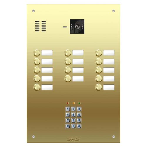 14 button Brass video panel, keypad, name win. size D4