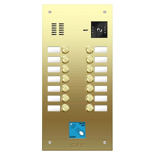 14 button Brass video panel, prox., name win. size D