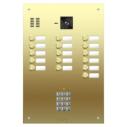16 button Brass video panel, keypad, name win. size D4
