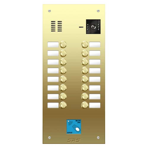 16 button Brass video panel, prox., name win. size D