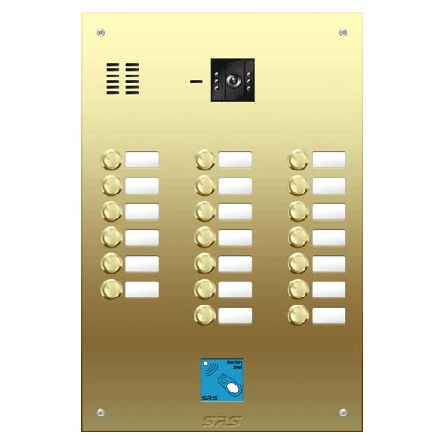 20 button Brass video panel, prox., name win. size D