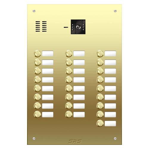 25 button Brass video panel, name win. size D4