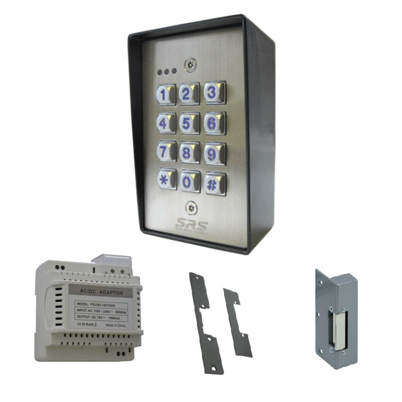 door access control keypad by srs dc60ss. Black Bedroom Furniture Sets. Home Design Ideas
