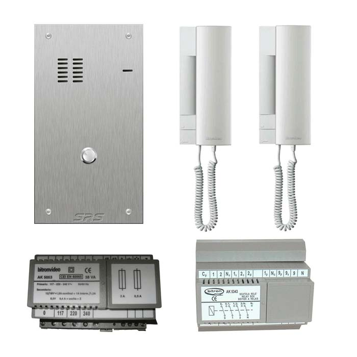 01 way audio entry kit c/w s. steel VR engravable panel flus