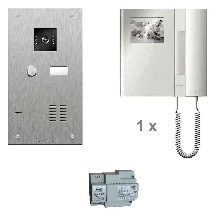 01 way colour kit - stainless steel panel & T-line monitor