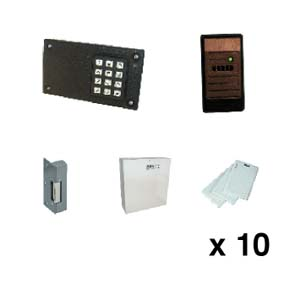 DC250 kit Proximity Reader, DC250, PSU, Release & 10 cards