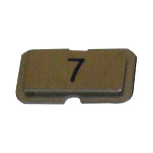 Stainless steel name plate engraved 7