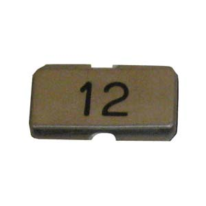Stainless steel name plate engraved 12