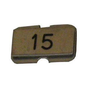 Stainless steel name plate engraved 15