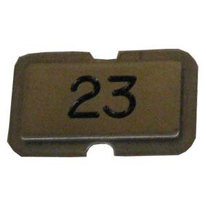 Stainless steel name plate engraved 23